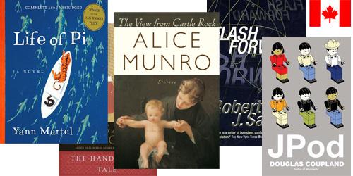 Okładki książek kanadyjskich autorów